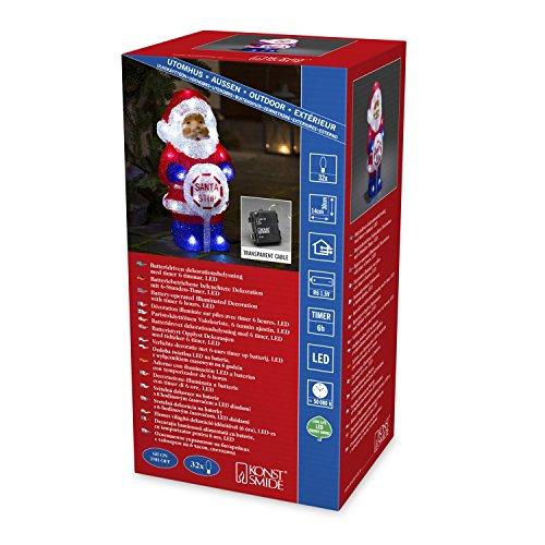 Konstsmide 32cm acrilico Babbo Natale: a batteria con Timer: 24LED: per interno/esterno: 6143–203