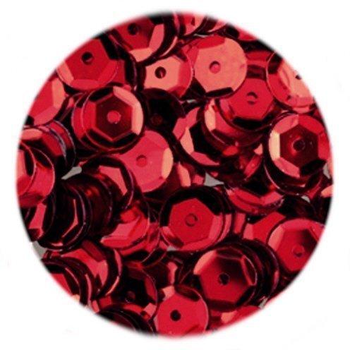 efco Runde, vertiefte Pailletten, rot, 6mm, 40g, 4.000 Stück