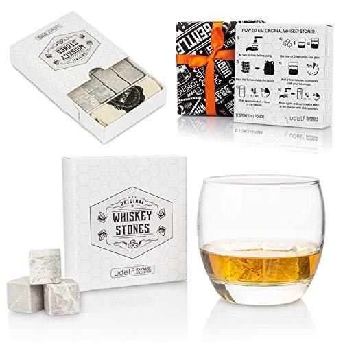 Hediyesepeti Premium Whisky Stones Gift Set met 12 stuks stenen en tas. Whisky, Bourbon, Cognac, Scotch, Gin, wijndrank…