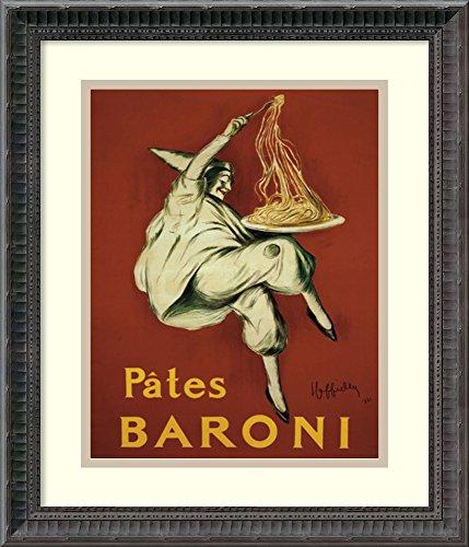 "Framed Art Print, 'Pates Baroni (ca. 1921)' by Leonetto Cappiello: Outer Size 16 x 19"""
