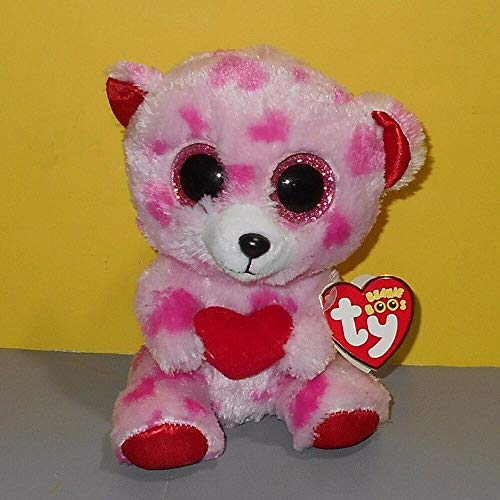 Licosiomi Ty Valentine Beanie Boos 6 Quot 15cm Sweetikins Bear With A Heart Plush Regular Big Eyed Stuffed - Giraffe Butterfly Hand Duke Brown Cube Dotty Speckled Figures Extra Peng