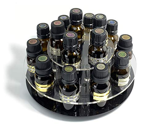 JEREVER Rotating Essential Oil Display Rack for 15 Bottles -...