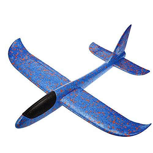 Mousse Planeur Avion Lancer Avion Jouet de vol à Voile Inertie Manuel Avion Circling Fonctions Avions Volant pour Les Enfants Enfants -1Pc Bleu