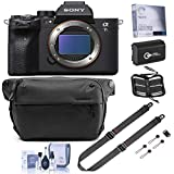 Sony Alpha a7S III Mirrorless Digital Camera Body Bundle with Peak Design 6L Everyday Sling V2 Black, SlideLITE Strap, Extra Battery, Screen Protector, Memory Wallet, Cleaning Kit