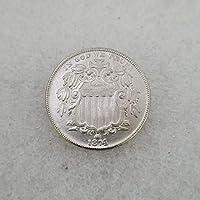 絶妙なコインアンティーク工芸品アメリカ18745真鍮銀メッキシルバーダラーシルバーラウンド外国貿易コレクション