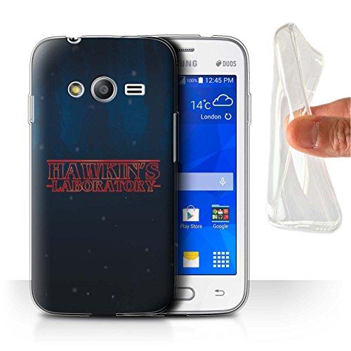 Hülle Für Samsung Galaxy Trend 2 Lite/G318 Seltsam Retro Hawkins Laboratorium Design Transparent Dünn Weich Silikon Gel/TPU Schutz Handyhülle Case