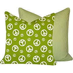 Peace Out Collection - Chartreuse and White