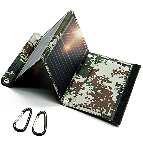 Idefair Portable Solar Panel Charger, SunPower Foldable Solar Panel Charger (5V/3A Max), Solar Charger for Cell Phone, iPhone, Android, Samsung Galax, Camera
