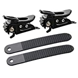 UP100 1 Sets Snowboard 2 Buckles with 2 Straps for Snowboard Strap-in Toe Tongue Binding System