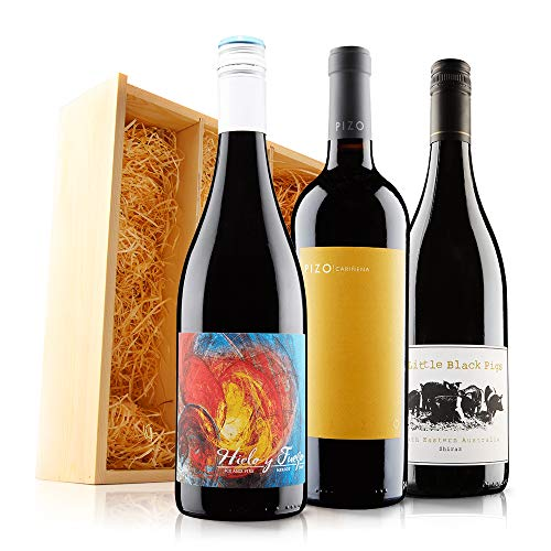 Incredible Red Wine Trio (3x75cl) in Wooden Gift Box - Virgin Wines