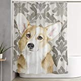 QIUJUAN Duschvorhang, Panda Shower Curtain, Fully Patterned Design Waterproof and Bacteria-Proof Shower Curtain 60x72 Inches, Non-Toxic and Odorless