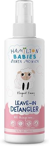 Hamilton Babies: Elegant Emmy Leave-In Detangler - Baby Detangler - 5 fl oz / 149 mL - Natural, Hypoallergenic, Moist...