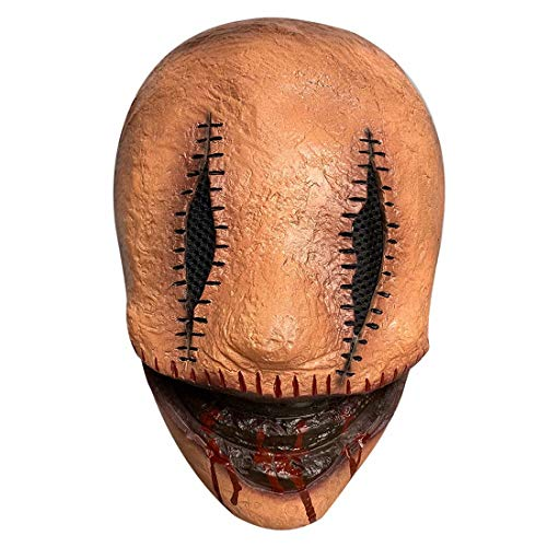 Smiley Face Serial Killer Mask Scary Latex Full Head Horror Movie Mask Halloween Cosplay Props Red