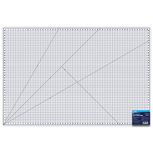 U.S. Art Supply 40' x 60' White/Blue Professional Self Healing 5-6 Layer Double Sided Durable Non-Slip PVC Cutting Mat Great for Scrapbooking, Quilting, Sewing and All Arts & Crafts Projects