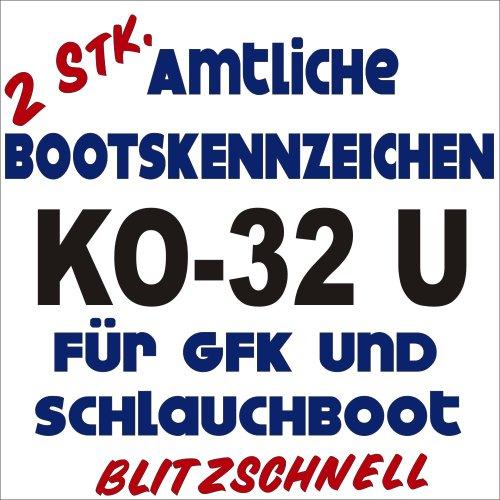 Bootsname amtl. Kennzeichen 2 Stück königsblau ca. 10cm Höhe je Buchstabe, NB-Boot-kb10