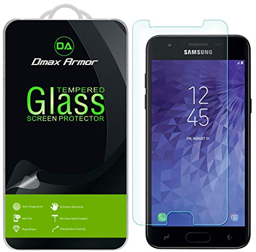 [2-Pack] Dmax Armor for Samsung Galaxy J3 V J3V (3rd Gen) / J3 (3rd Generation) Tempered Glass Screen Protector