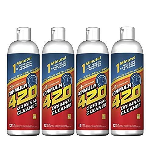 Formula 420 Glass Metal Ceramic Pipe Cleaner 12 Oz Bottles 4 Pack