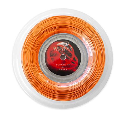 Cordaje de Tenis. 200 m 125 mm. Resistente Calidad. Maxima Potencia. Pegada Volea Saque Defensa Fondo de Pista. Co Poliester Monofilamento. Color Naranja