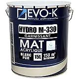 EVO-K Peinture professionnelle Murs & Plafonds HYDRO M330 Acrylique Blanc Mat 15L - 150m²