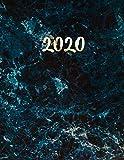 Mármol Azul y Oro Agenda 2020: Planificador Semanal | 52 Semanas Enero a Diciembre 2020