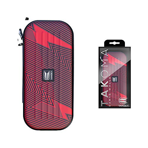 Target Darts Phil Taylor Takoma Darts Tasche, rot und schwarz, 3 dartpfeile