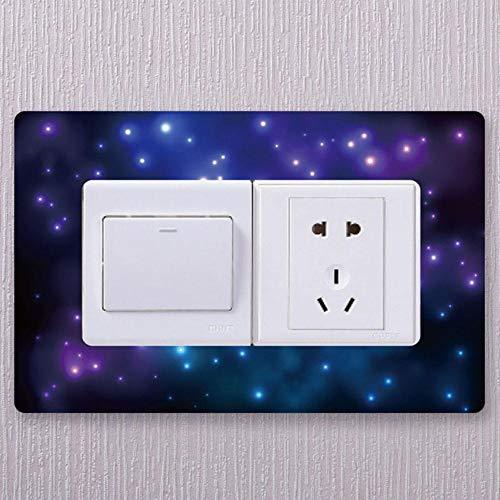 Houer 1 Pcs Acryl schakelaar beschermer dubbele open schakelaar decoratieve cover Chinese thuis slaapkamer woonkamer beschermhoes, B2-5,15.7x24.5cm