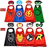 NuGeriAZ Superhero Capes for Kids,Superhero Toys for Boys -Halloween Dress Up Superhero Costumes 4-10 Year Old Boy Gifts (Red 4pcs)