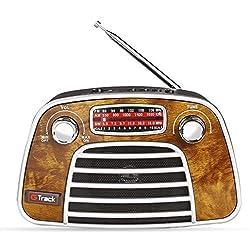 G Track Vintage Classic Portable Radio Bluetooth Speaker FM Micro SD Card USB