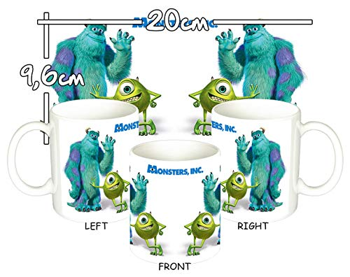 Monstruos S.A. Monsters Inc Mike Wazowski & Sulley Taza Mug