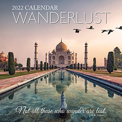 2022 Wanderlust Travel Places Hanging Wall Photo Calendar with Landmarks, Nature, Geographic Photography. Daily, Weekly, Monthly 12 Month Planner, Family Schedule, Agenda, Organiser