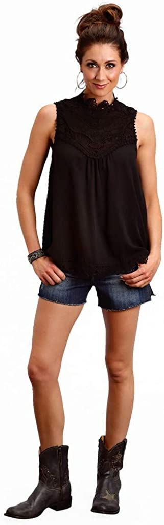 Stetson High order Western Shirt Max 59% OFF Womens 11-052-0565-2025 Sleeveless Keyhole