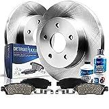 Detroit Axle - Pair (2) Rear Disc Brake Kit Rotors w/Ceramic Pads w/Hardware & Brake Kit Cleaner &...