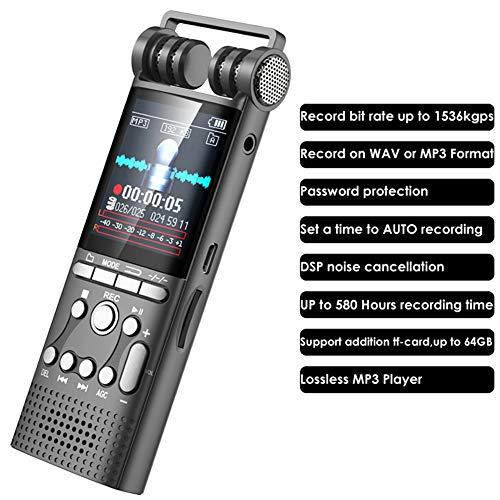 ZXY 8G Automatische Rauschunterdrückung Aufnahmegerät Tragbarer HD Sound Audio-Telefon-Aufnahme Dictaphone MP3 Recorder Eingebautes Mikrofon