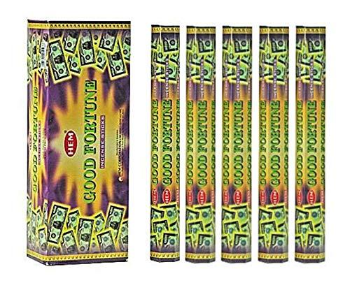 HEM Good Fortune 100 Incense Sticks (5 x 20 stick packs)