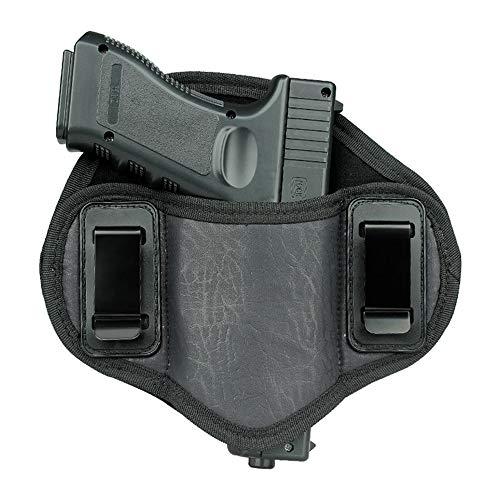 Hand Black Leather Open Top Anti-Cut IWB Belt Holster voor hardlopen, joggen, wandelen voor mannen en vrouwen,Left