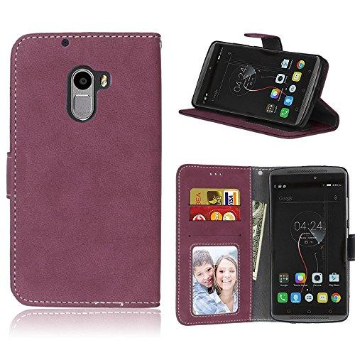 Handy Kasten für Lenovo Vibe K4 Note A7010/Vibe X3 Lite,Bookstyle 3 Card Slot PU Leder Hülle Interner Schutz Schutzhülle Handy Taschen(Rose)