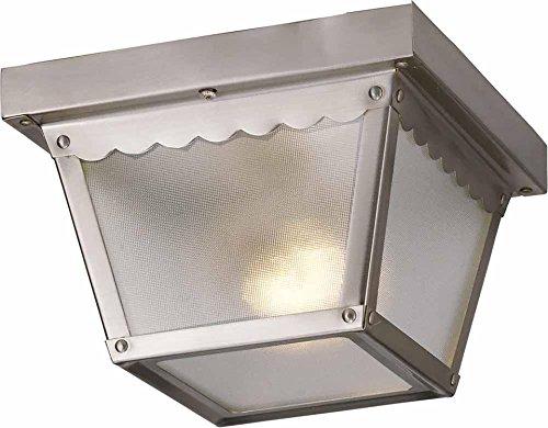 Volume Lighting V7231-33 1-Light Outdoor Ceiling Mount, Brushed Nickel