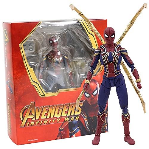 Figura Juguete Star Lord Iron Man Hombre Spiderman Doctor Strange Thanos Negro Viuda Capitán Hulk Figura de acción Juguete Figura Juguete (Color : Iron Spider)