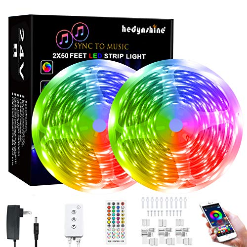 100Ft Smart LED Strip Lights, Hedynshine...