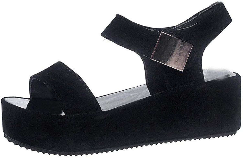 JaHGDU Women Summer Sandals shoes Peep-Toe Low shoes Roman Sandals Ladies Flip Solid color Beach Buckle Classic Wild Basic Stylish shoes