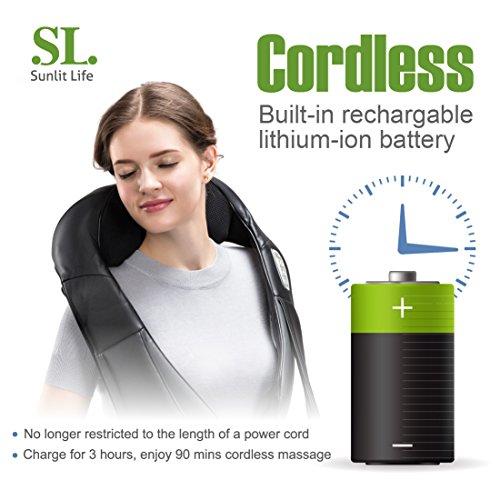 SunlitLife Cordless Shiatsu Massager