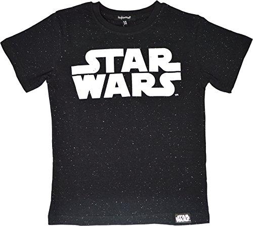 Star Wars Camiseta Chicos Edades de 5 a 12 años (11-12 Años, Negro)