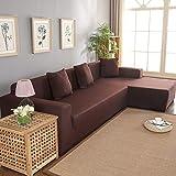 Funda elástica para sofá esquinero en forma de L con funda para sofá con chaise longue izquierda/derecha de 3 + 2