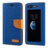 ZTE Nubia X Case, Oxford Leather Wallet Case with Soft TPU