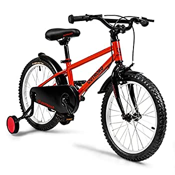 Max4out Kids Bike with Dual Brake Lightweight Girls Bicycle Boys Bike with Training Wheels,Red,18