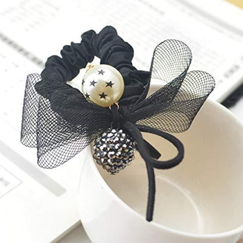 Bubbry nieuwe karikatuur-haar-cirkels-letter-fruit-elastiek zacht haarband vrouw Love8029