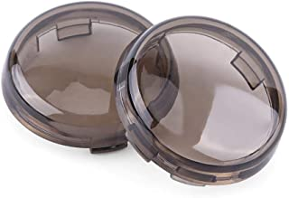 Delleu Lampe de Tour de lumi/ère Clignotante t/émoin de signalisation de la lentille bo/îtier Coque pour Harley Sportster Dyna Softail XL883 48