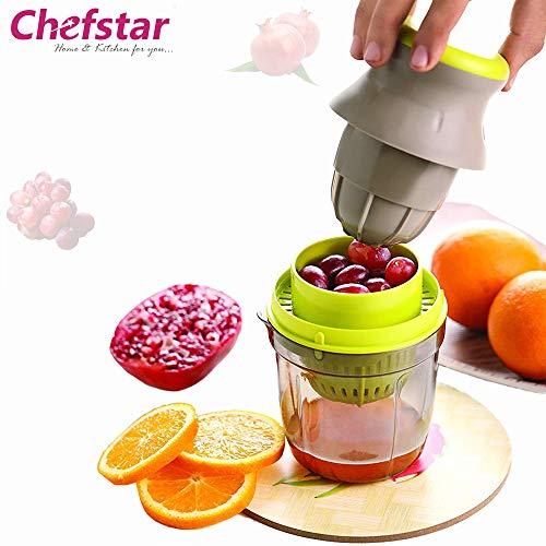 Chefstar Fruit & Vegetable Handy Juicer 2 in 1, Multicolour