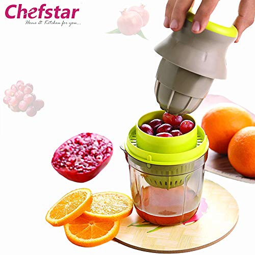 Chefstar Fruit & Vegetable Handy Juicer 2 in 1, Multicolour