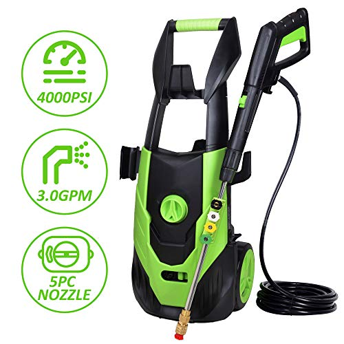 Aodern 4000 PSI 3.0 GPM Electric Pressure Washer, Power Wash Machine with 5 Quick-Connect Spray...